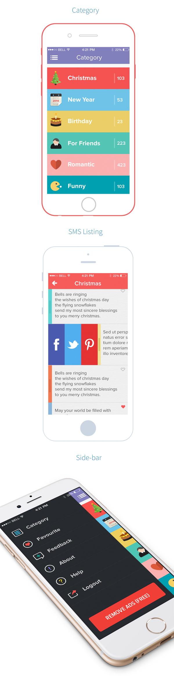Gretting SMS IOS App by Naoshad Alam