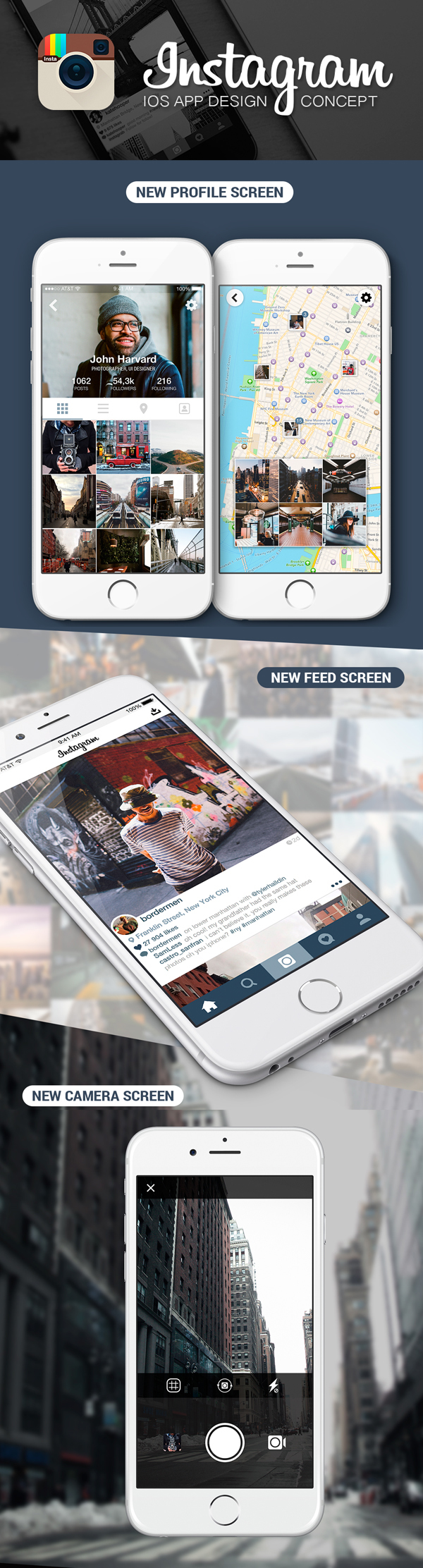 Instagram App Redesign Concept by Anthony Fomin