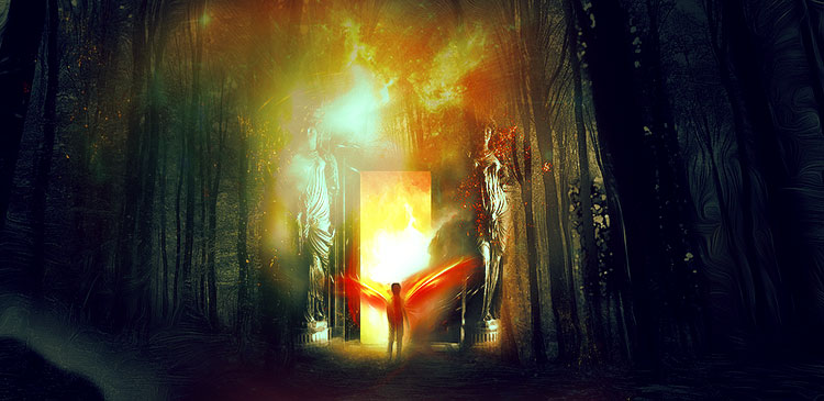 Create Portal to Another Realm Photo Manipulation in Photoshop