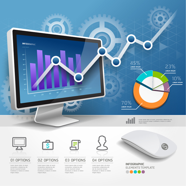 Digital Products Infographic Template Vector