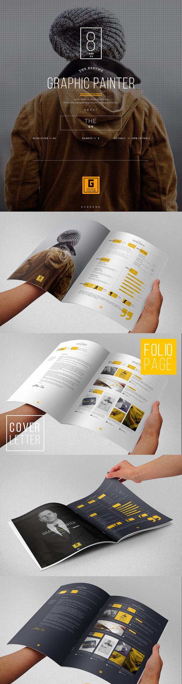 Free Creative Resume PSD Template