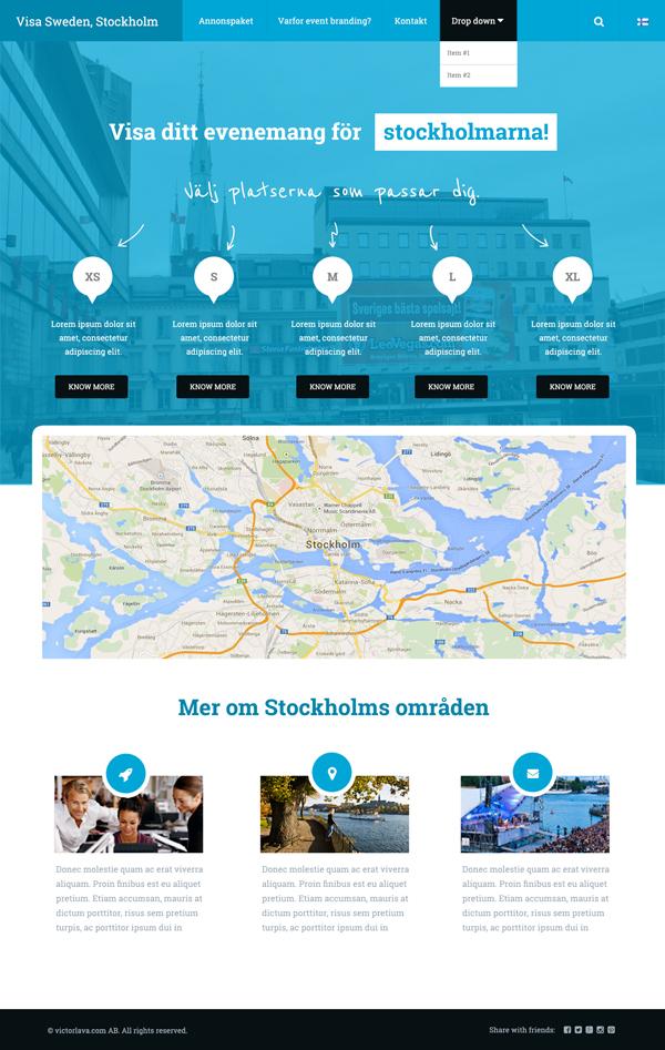 Free Corporate Website Template (PSD)