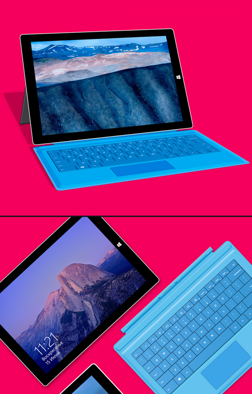 Surface Pro 3 Free PSD Mockup Templates