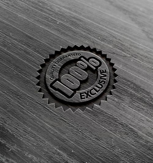 Photorealistic Wood Logo Mock-up
