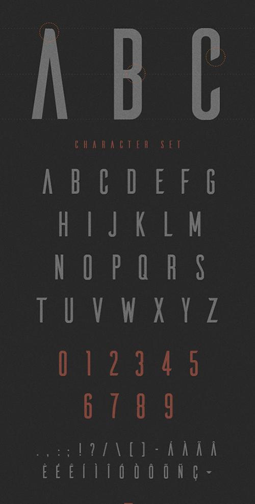 Ailerons Font - Letters