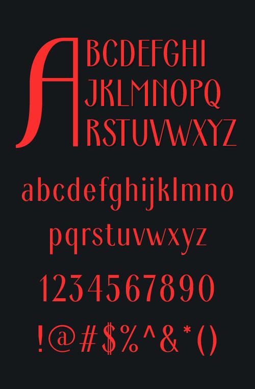 Ardeco Font Letters