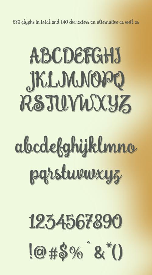 Bobbie Font - Letters