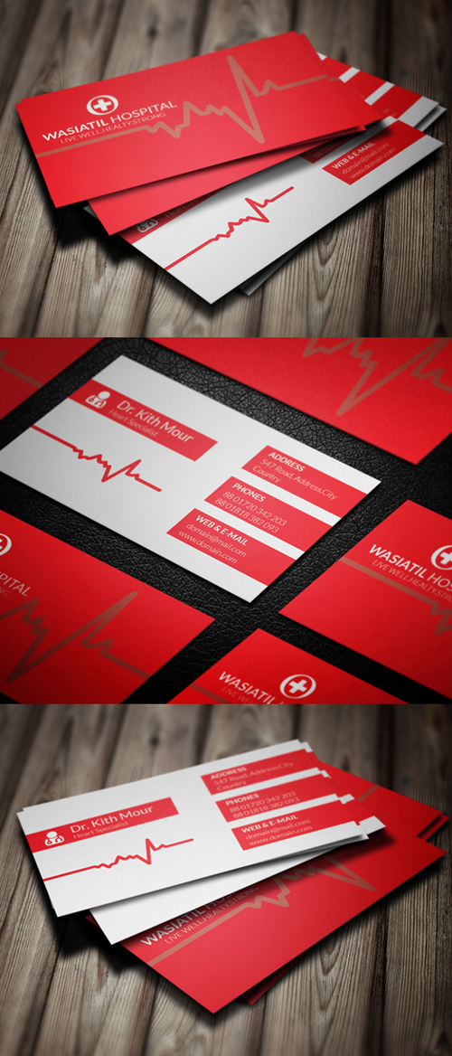 Doctor Business Card PSD Template
