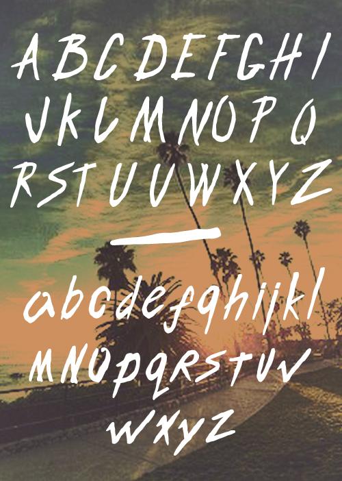 Endless Bummer Font - Letters