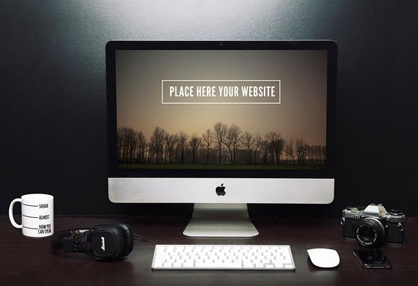 Free iMac Mockup Freelancer Setup