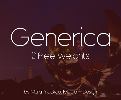 Generica Free Font