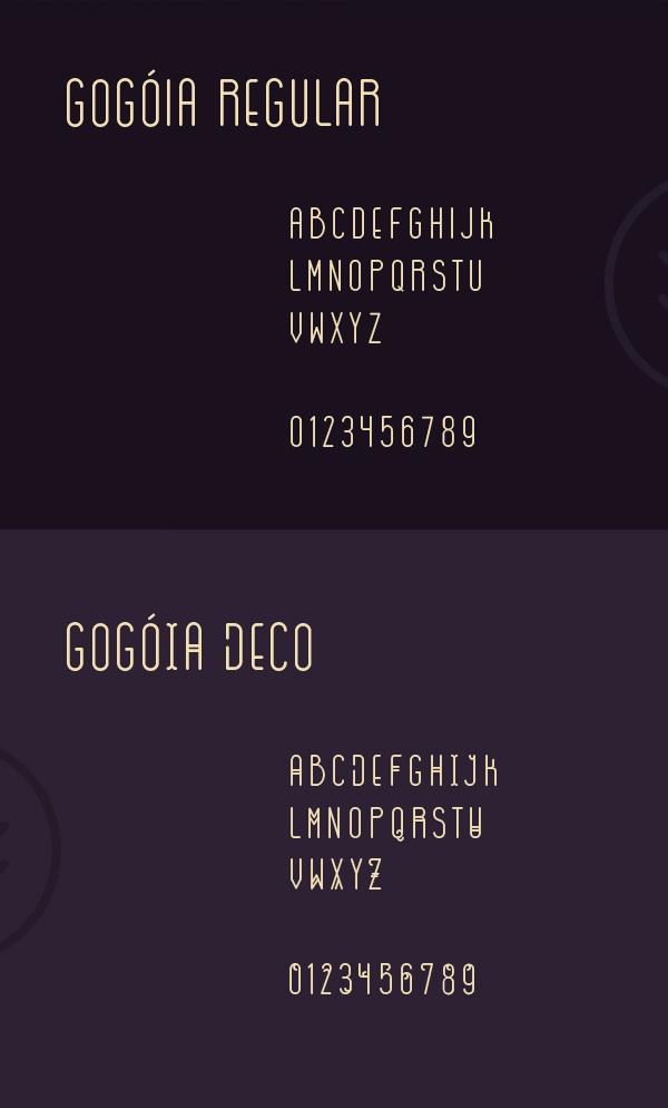 Gogoia Font Letters