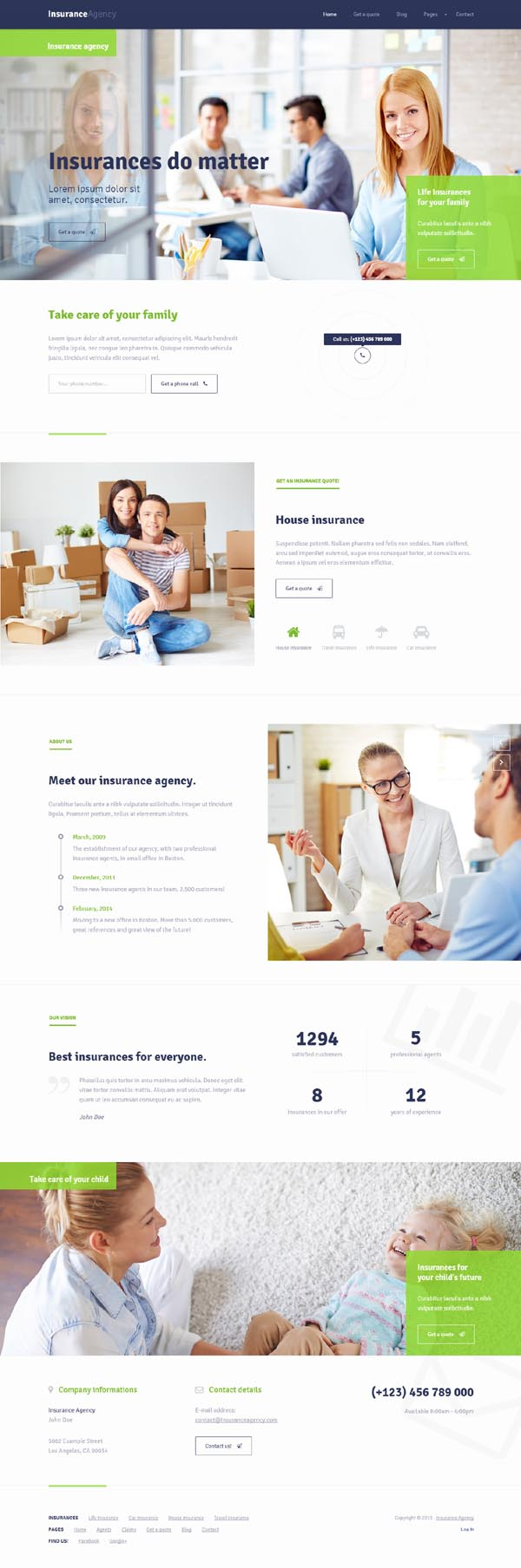 Insurance - HTML5 template for Insurance Agency