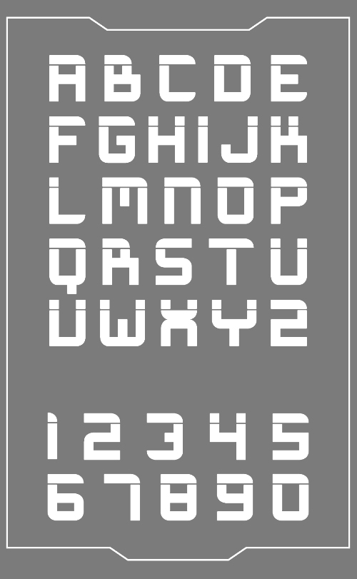 Magnetype Font - Letters