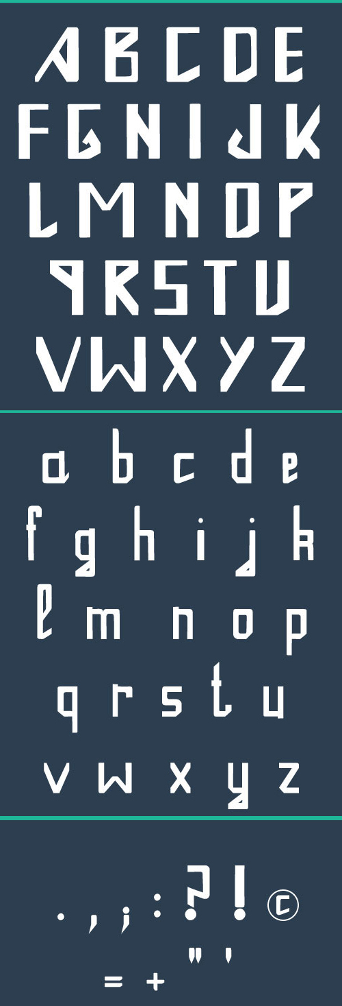 One Font Letters