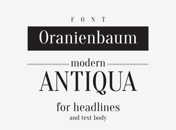 Oranienbaum Free Font for Designers
