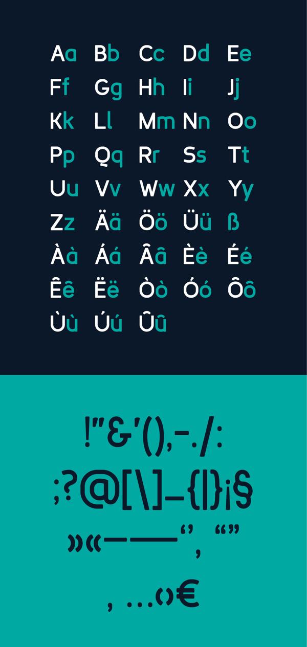 Rodina Font Letters
