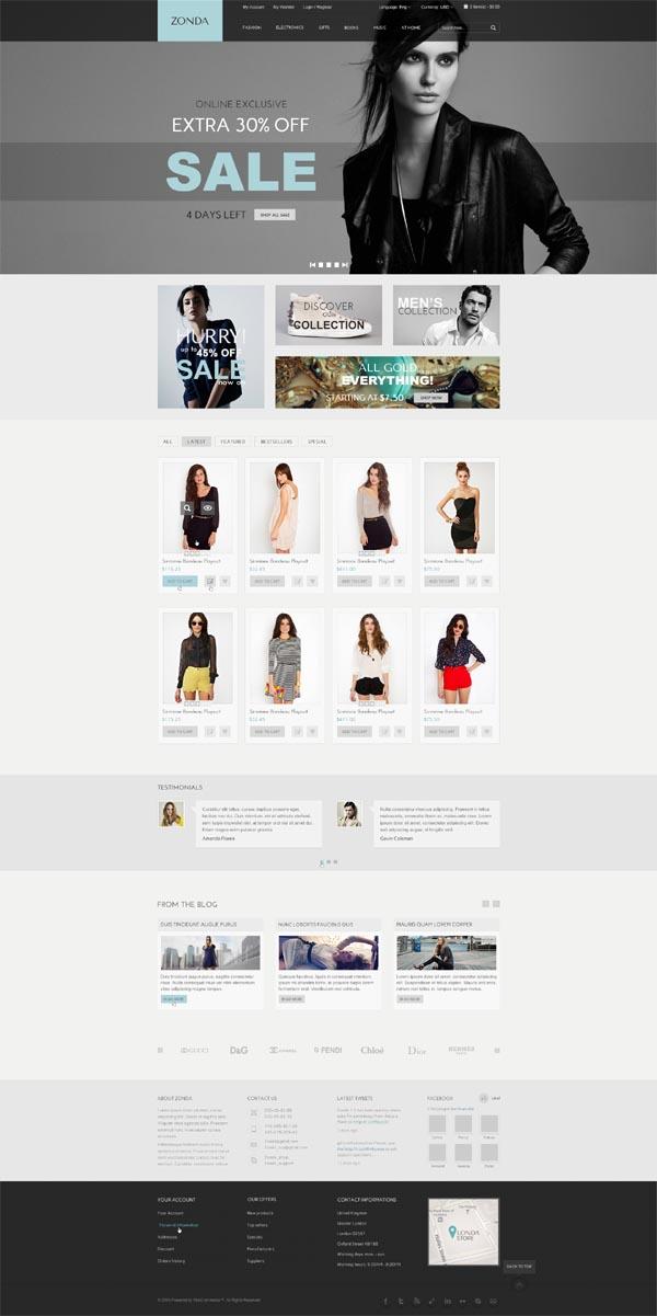 Zonda - Responsive eCommerce HTML Template