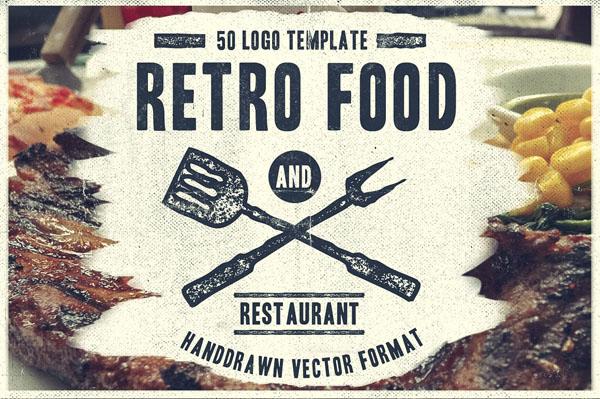 50 Retro Food Logo