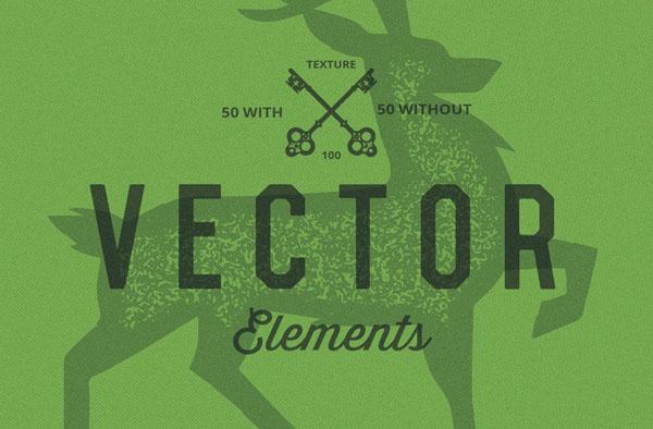140 vector elements, 4 bonus Handcraft logo's