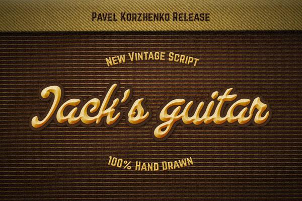 Jack's Guitar – Handwritten Script