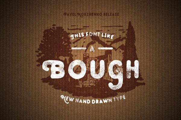 Bough – Vintage Hand Drawn Typeface