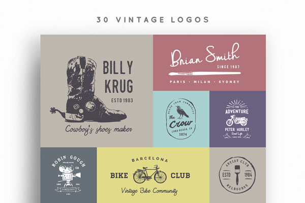 30 Vintage Logos with great price