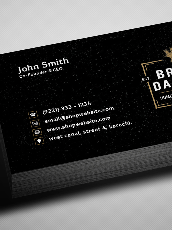 Free Vintage Style Business Card Template / Mockup PSD 1