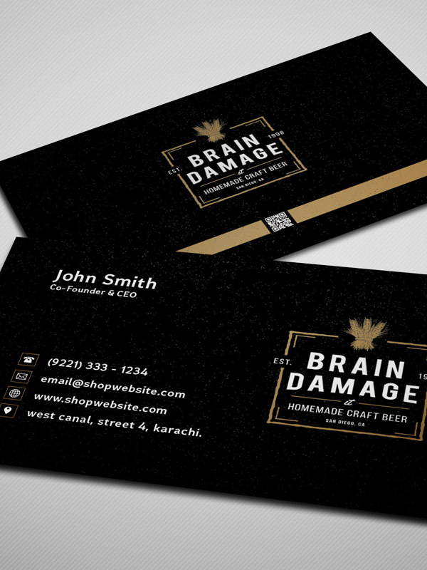 Free Vintage Style Business Card Template / Mockup PSD 2