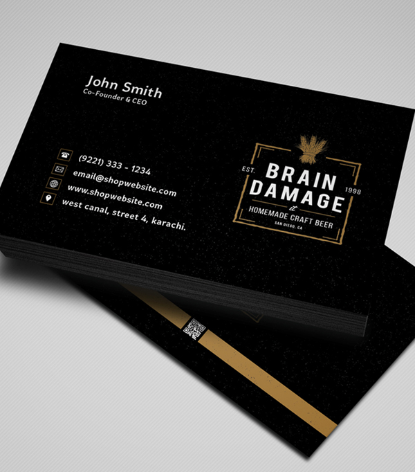Free Vintage Style Business Card Template / Mockup PSD 4