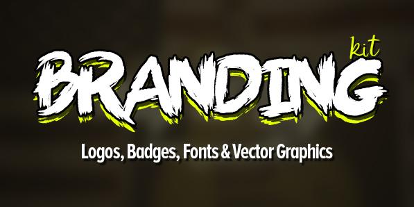 Branding Kit (650+ Logos, Badges, Fonts and Vectors)