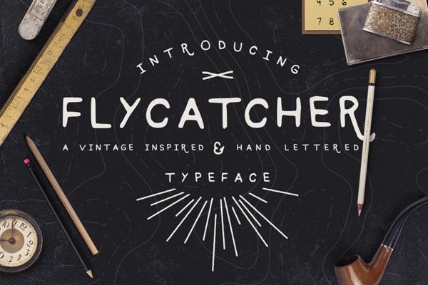 Flycatcher new hand drawn typeface