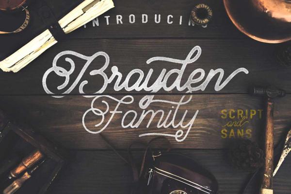 Brayden Script Font Family