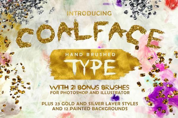 Coalface unique, rugged, rough hand-brushed typeface