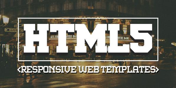 16 New Responsive HTML5 Web Templates