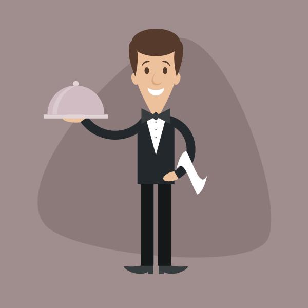 How to Create a Simple Cartoon Waiter in Adobe Illustrator