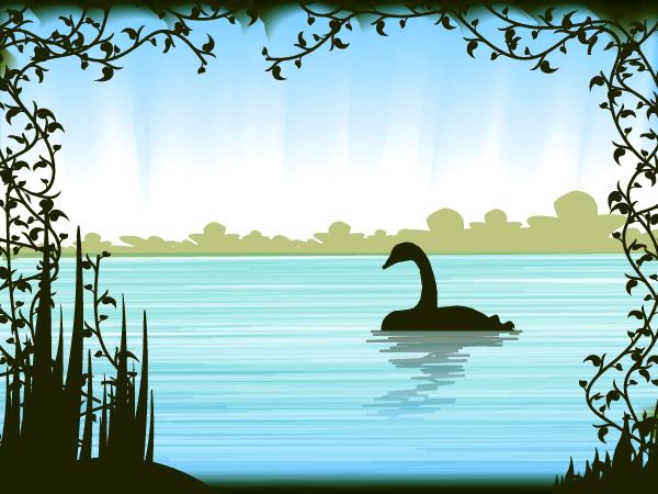 Create a Pen Tool Free Swan Silhouette Swamp Scene in Adobe Illustrator