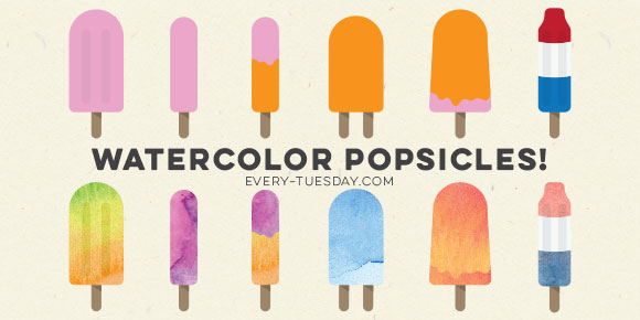 How to Create a Watercolor Popsicle in Illustrator