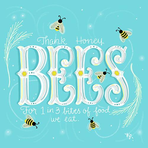 Honey Bees by Kim Panella