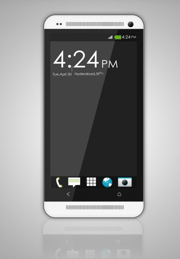 Create the HTC One Smartphone from Scratch Photoshop Tutorial
