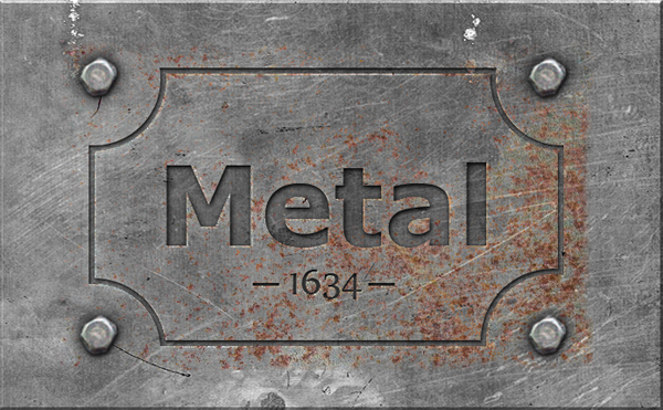 Engraved Metal Text Style Photoshop Tutorial