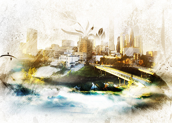 Design an Awesome Watercolour Style Surreal Artwork in Photoshop