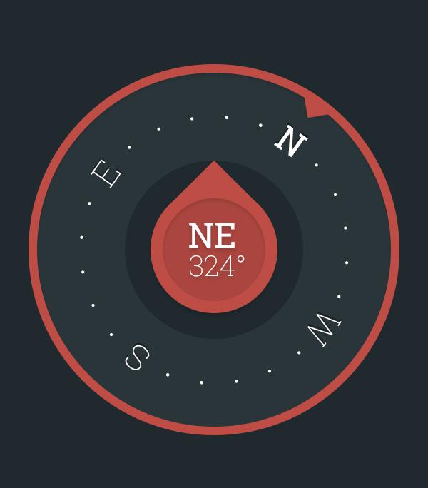 Free PSD - Minimalist Compass Concept