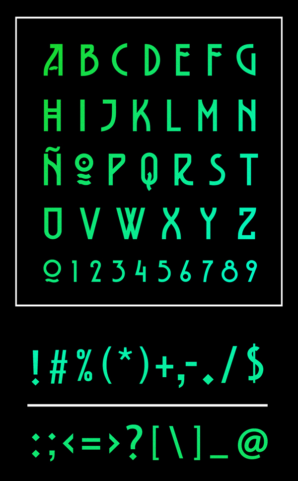 BELLADONA fonts and letters