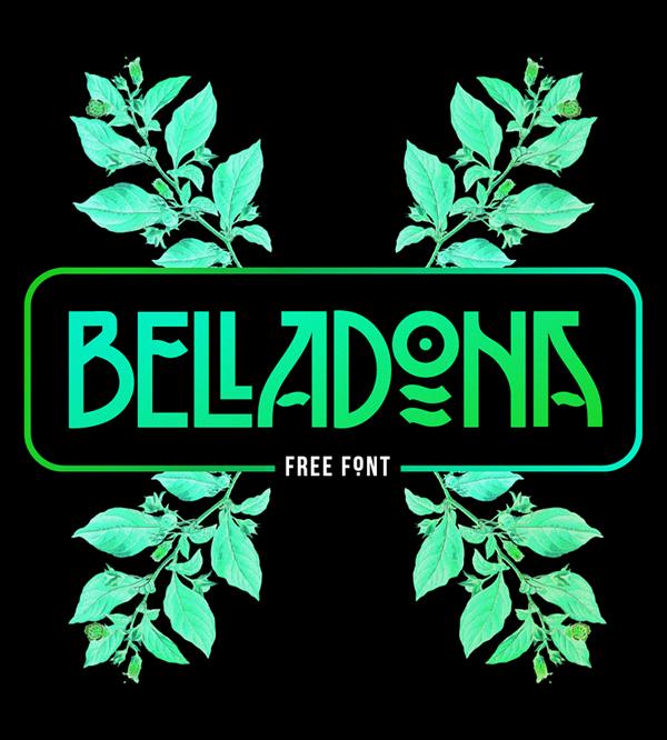 BELLADONA free fonts