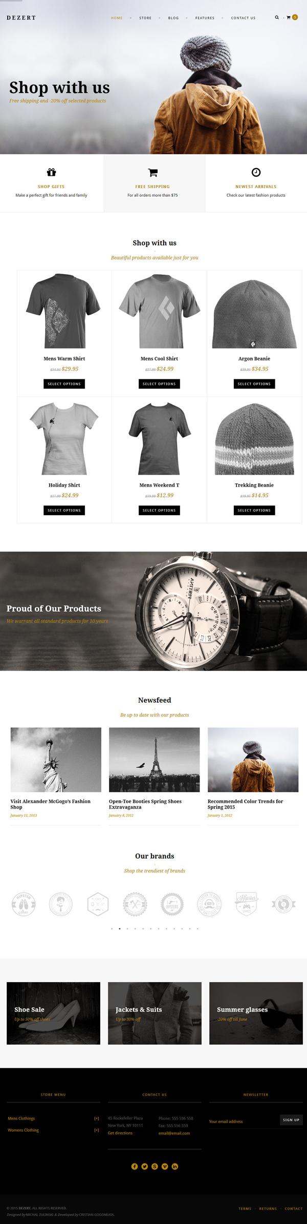 Dezert - WP EasyCart & WooCommerce Shopping Theme