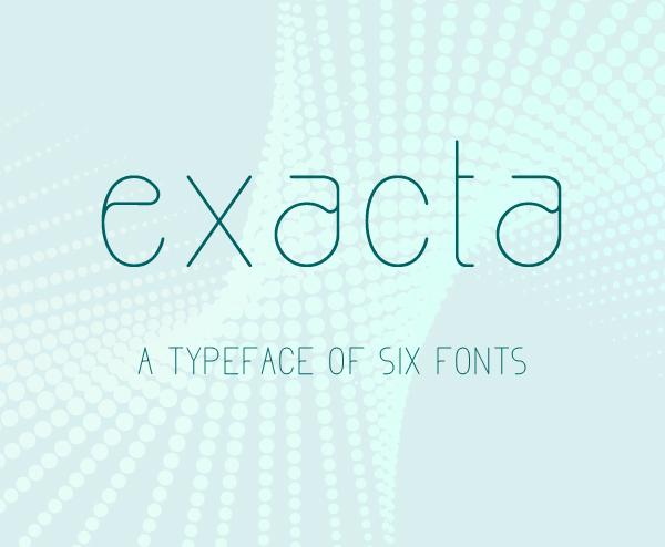 Exacta free fonts