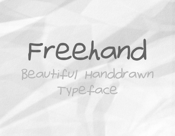 Freehand free fonts