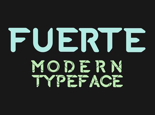 Fuerte Typeface Free Font