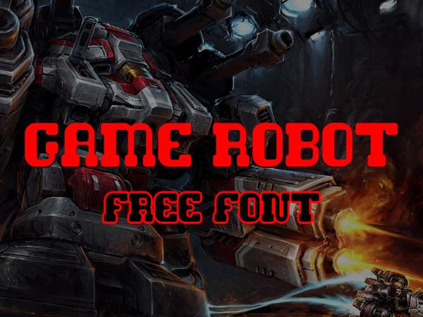 Game Robot free fonts